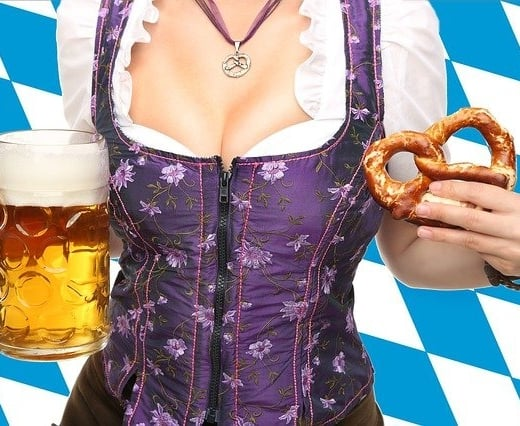 At the Oktoberfest in Munich it is popular to wear clothing that show just a peak of your breasts.
