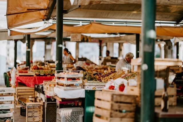 Weekly markets in Munich offer a lot of fruits, vegetables and other everyday objects