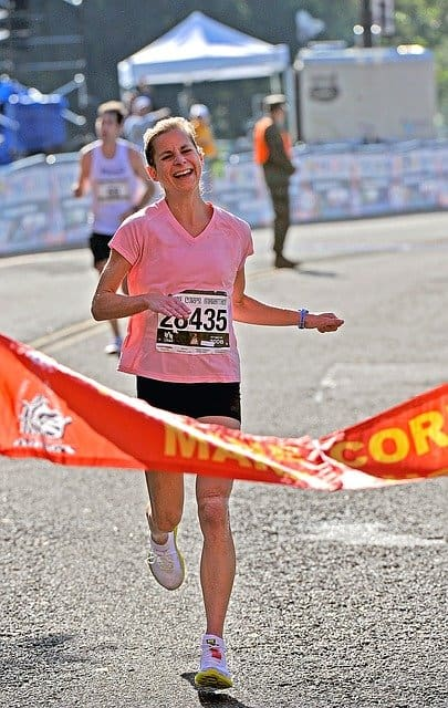 Not everyone reaches the goal of the finish line of the Munich Marathon