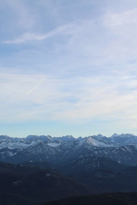 Alps in Winter near Munich, cool for skedding