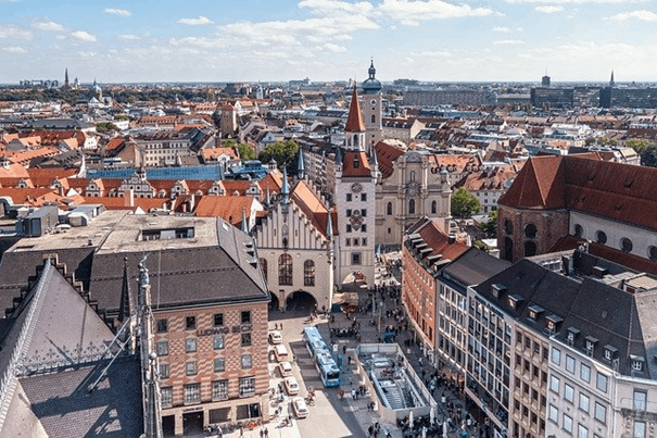 A quick view of Munich's old town Lehel.