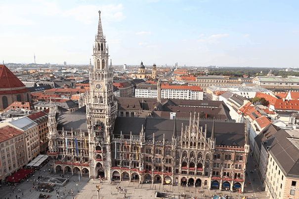 The Marienplatz is part of old town Lehels most popular places to be as a tourist.