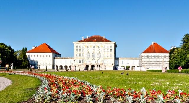 The Nymphenburg is a popular sight in Munich's Neuhausen-Nymphenburg.