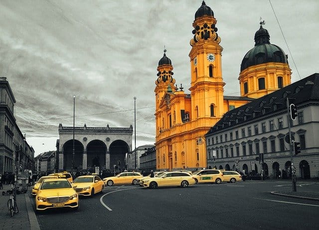 The Odeonsplatz is a popular place of beautiful architecture in Munich