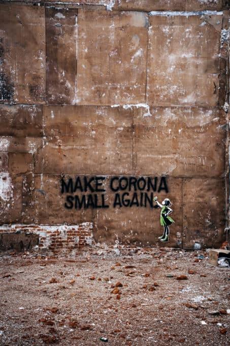 Graffiti in München Make Corona Small Again