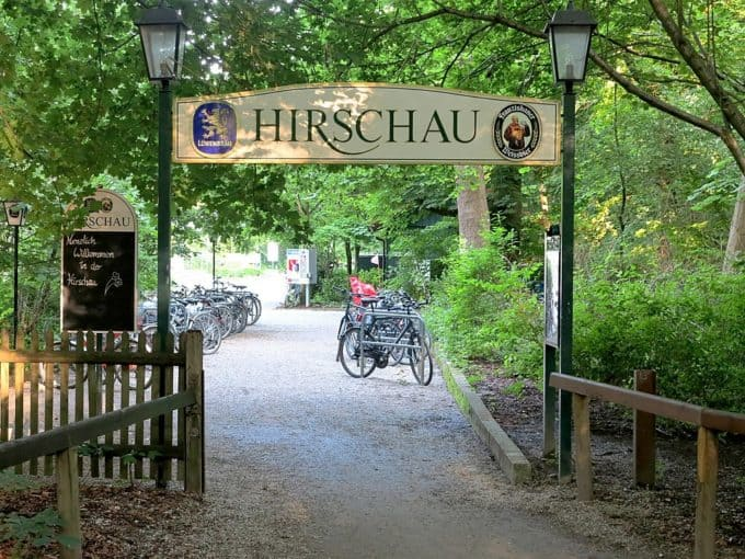 Entrance to the beer garden Hirschau