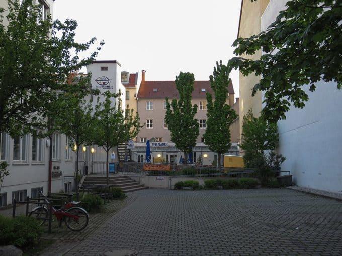 EineWeltHaus with Open Air cinema in summer