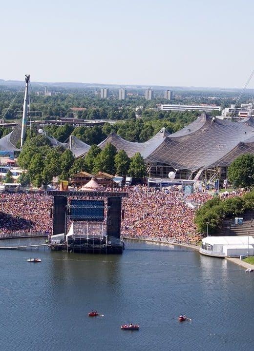 Open Air cinema in the Olympiapark in Munich
