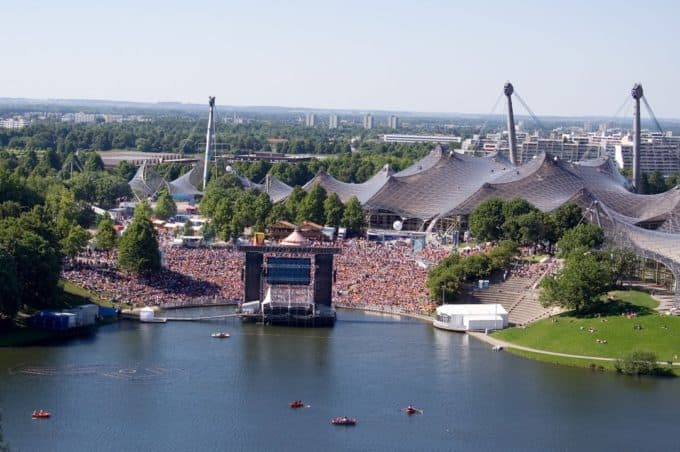 Open-air stage in Olympiapark in Munich